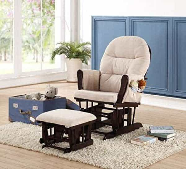 Naomi Home Brisbane Glider and Ottoman Set