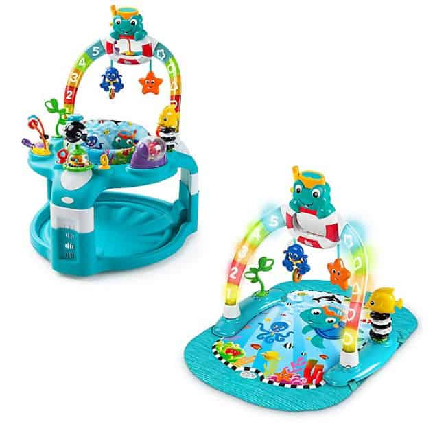 Baby Einstein 2 in 1 Lights and Sea Activity Gym and Saucer