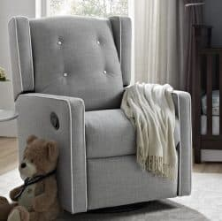 Baby Relax Mikayla Swivel Gliding Recliner featured