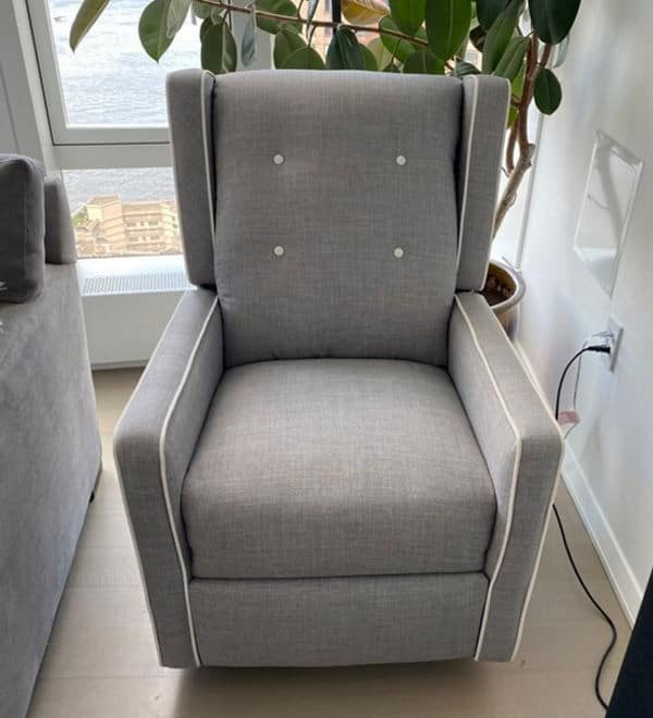 Baby Relax Mikayla Swivel Gliding Recliner front view