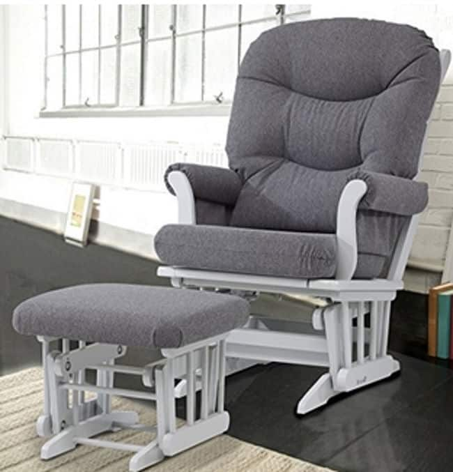 Dutailier Sleigh Glider and Ottoman Combo Grey