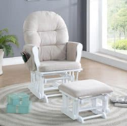 Naomi Home Brisbane Glider and Ottoman Set Featured