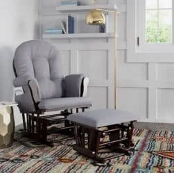 Storkcraft Hoop Glider and Ottoman Featured Grey