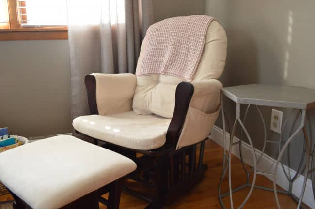 Storkcraft Nursery Baby Glider Expresso color